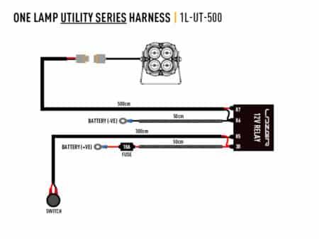 Kabelový svazek pro jedno světlo (série Utility,12 V)