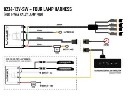 Kabelový svazek pro čtyři světla (série Carbon)