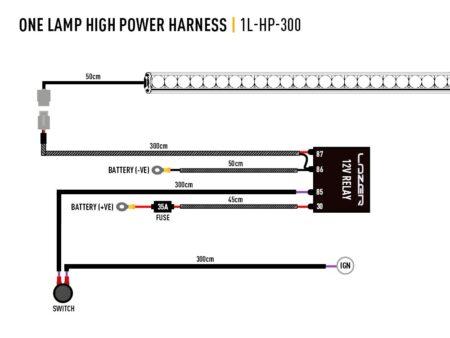 Kabelový svazek pro jedno světlo (vysoký výkon, 12V)