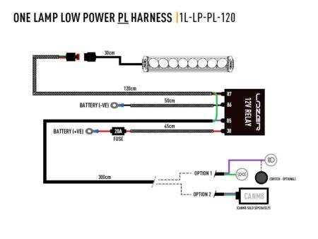 Kabelový svazek pro jedno světlo (obrysová světla, 12V)