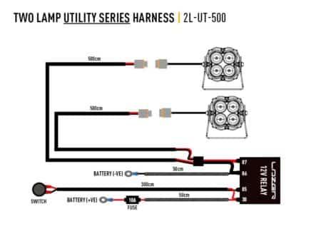 Kabelový svazek pro dvě světla (série Utility, 12V)